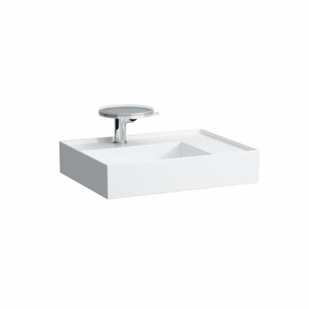 Laufen Kartell Umywalka wisząca 60x46x12 cm bez systemu przelewowego 1 otwór na baterię, biała H8103340001111