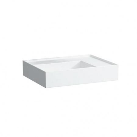 Laufen Kartell Umywalka wisząca 60x46x12 cm bez systemu przelewowego i otworu na baterię, blat po prawej stronie, biała H8103340001121