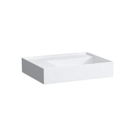 Laufen Kartell Umywalka wisząca 60x46x12 cm bez systemu przelewowego i otworu na baterię, biała H8103350001121