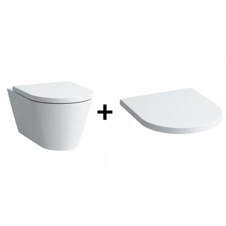 Laufen Kartell Zestaw Toaleta WC podwieszana 54,5x37 cm z deską sedesową wolnoopadającą, biała H8203310000001+H8913330000001