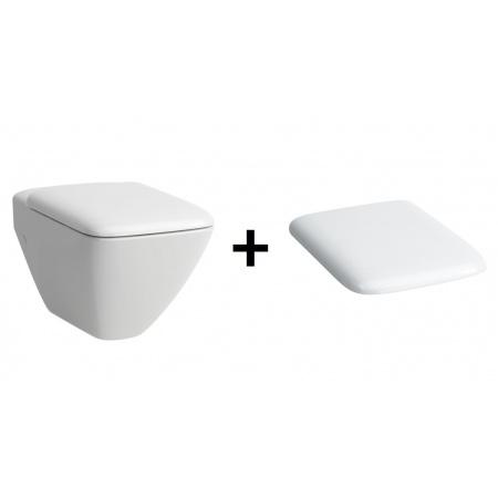Laufen Palace Zestaw Toaleta WC podwieszana 36x56 cm lejowa z deską sedesową wolnoopadającą, biały H8207000000001+H8917013000001