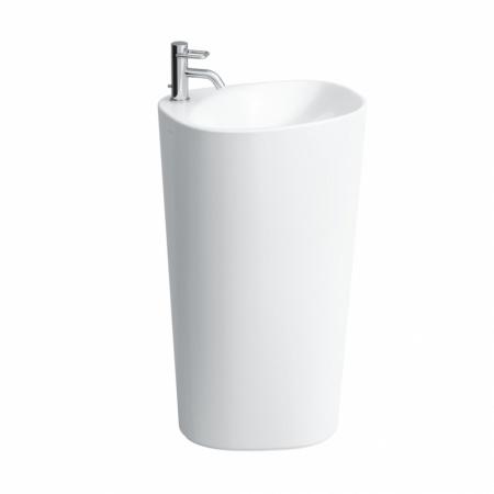 Laufen Palomba Umywalka przyścienna 52x43,5x90 cm bez otworu na baterię, biała H8118040001091