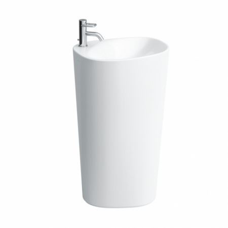 Laufen Palomba Umywalka wolnostojąca 52,5x40x90 cm bez otworu na baterię i ze szkliwieniem LCC, biała H8118034001091