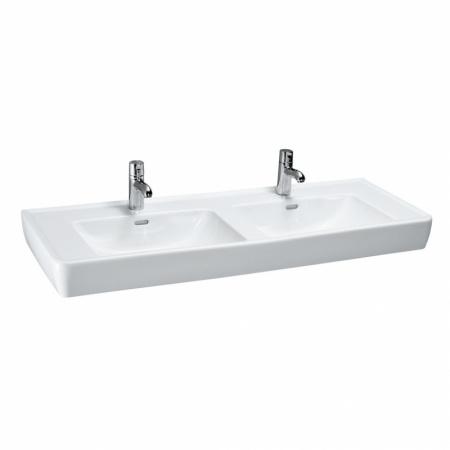 Laufen Pro A Umywalka wisząca lub nablatowa 130x48x17 cm ze szkliwieniem LCC, biała H8139674001041