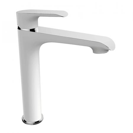 Laveo Alea Jednouchwytowa bateria umywalkowa stojąca wysoka, biała/chrom BLE62ND