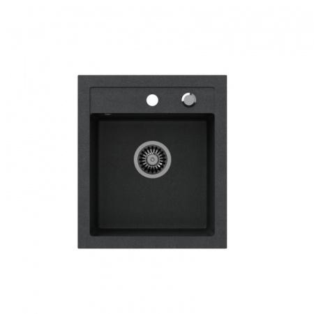 Legersen Frost Zlewozmywak granitowy 43x50 cm czarny LEFR001CZ