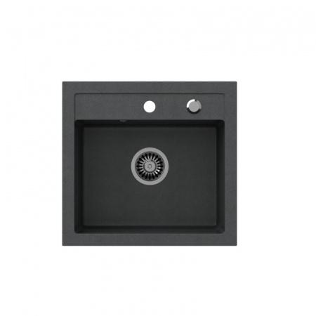 Legersen Frost Zlewozmywak granitowy 50x47 cm czarny LEFR002CZ