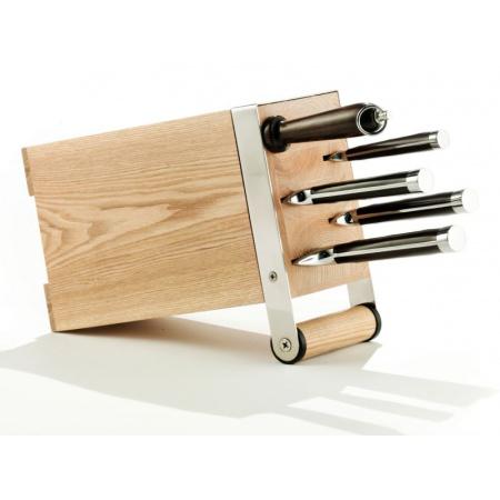 Legnoart Arsenale Zestaw noży kuchennych, beżowy/czarny KS-1(1)