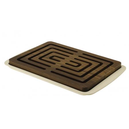 Legnoart Vitto Deska do krojenia pieczywa 23,8x36x3,5 cm, beżowa/brązowa BP-2