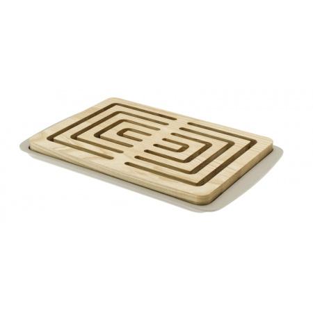 Legnoart Vitto Deska do krojenia pieczywa 23,8x36x3,5 cm, beżowa/jasna BP-1