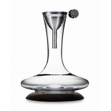 Legnoart Karafka do wina z dekanterem 22x22x27,5 cm, przezroczysta/brązowa SD-2
