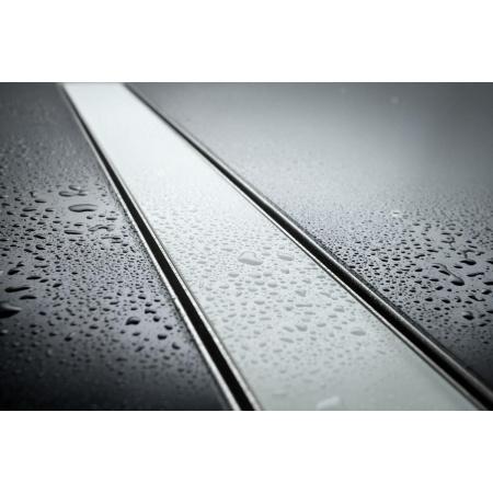 Lorac Glass Odpływ liniowy 90 cm, stal nierdzewna/szkło OL-G90