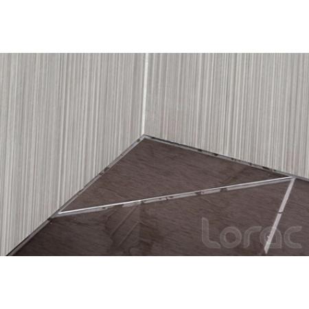 Lorac Mastif Odpływ narożny trójkątny 25x25x35 cm do zabudowy płytką, stal nierdzewna TOL-M25