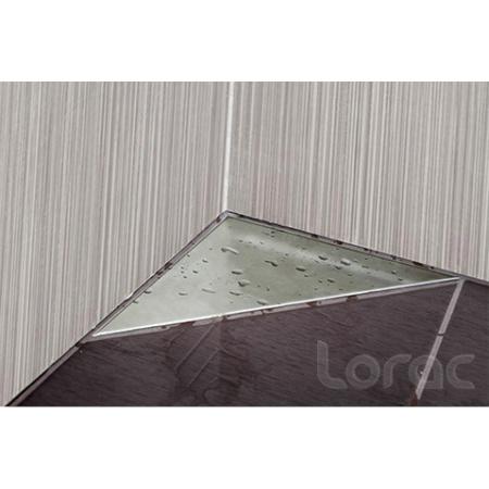Lorac Pan Odpływ narożny trójkątny 25x25x35 cm, stal nierdzewna TOL-P25