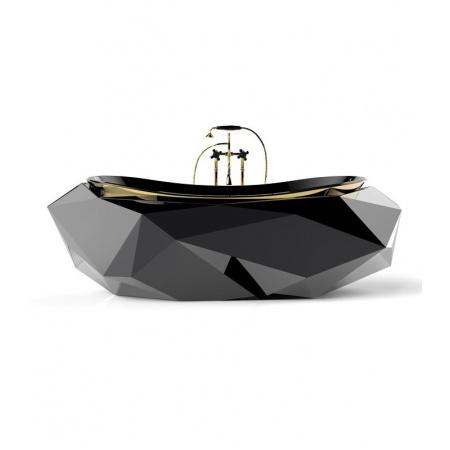 Maison Valentina Diamond Wanna wolnostojąca 215x91,5x70 cm, czarna MVDIAMWANWOLNCZA