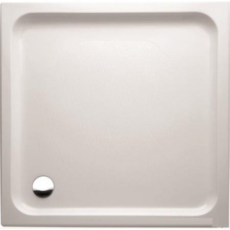 Marmorin Ceti Brodzik kwadratowy płaski 80x80 cm, biały PB014020800