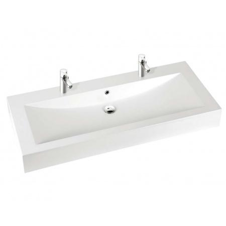 Marmorin Ceto 130 Umywalka z 2 otworami 130x55 cm, biała PU015041300