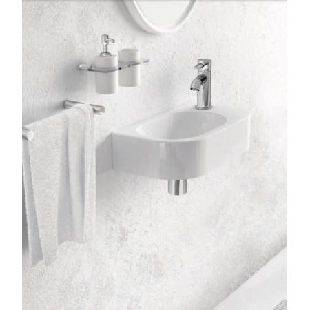 Marmorin Elara 2 Umywalka mała 40x20 cm z otworem, biała PU026020400