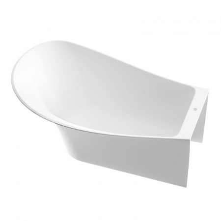 Marmorin Misa Wanna przyścienna lewa 155,3x91,6x60 cm, biała PW057021553