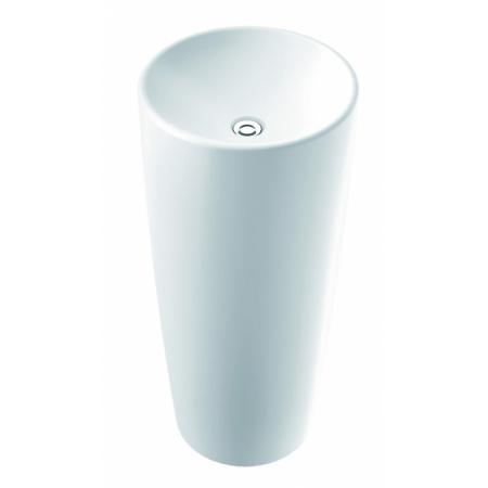 Marmorin Noemi Umywalka stojąca bez otworu 40x40 cm, biała PS062010400