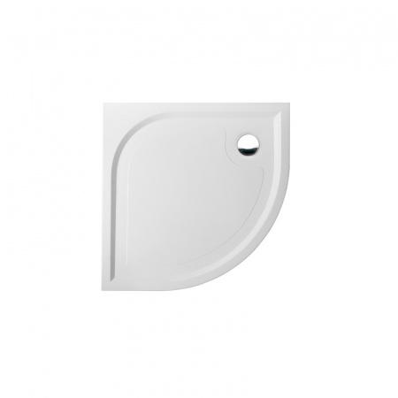 Marmorin Otero Brodzik półokrągły płaski 80x80 cm, biały PB066010800