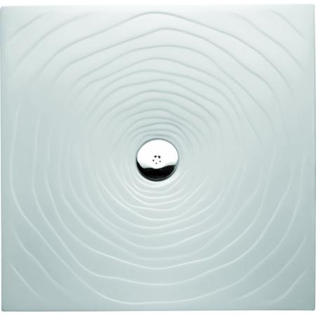 Marmorin Rosa Brodzik kwadratowy płaski 90x90 cm, biały PB073020900