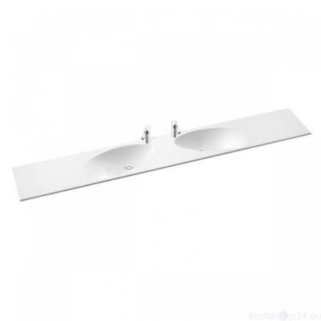Marmorin Ugo Duet Umywalka meblowa/wisząca/regulowana 153,5/250x40x15,4cm, biała PR092012500