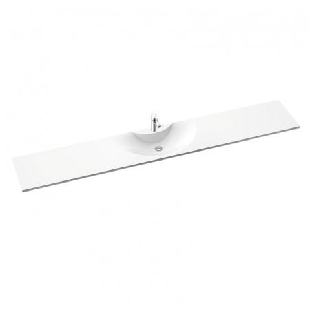 Marmorin Vera 2500 Umywalka meblowa/wisząca/regulowana 90/250x43x12,9cm, biała PR096012500