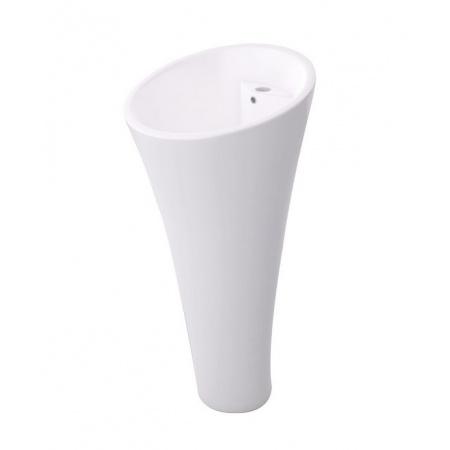 Massi Datura Umywalka wolnostojąca 43x43 cm z powłoką Easy Clean, biała MSUS-001