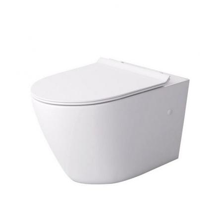 Massi Decos Slim Zestaw Toaleta WC podwieszana 55x36 cm z deską sedesową wolnoopadającą Slim, biały MSM-3673SLIM