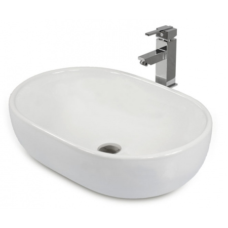 Massi Doti Umywalka nablatowa 60x43x15 cm z powłoką Easy Clean, biała MSU-5105A