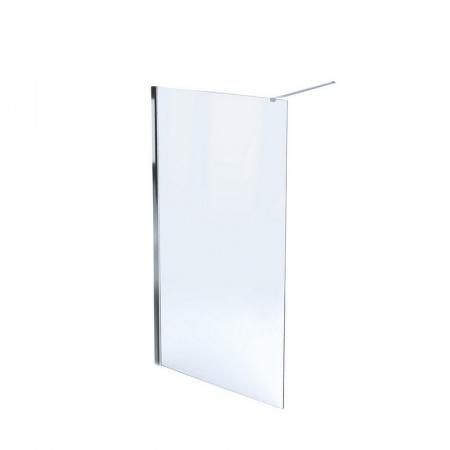 Massi Fix Walk-in Kabina prysznicowa prostokątna 100x195 cm z powłoką Easy Clean, profile chrom szkło przezroczyste MSKP-FA1021-100