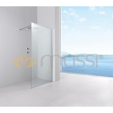 Massi Fix Walk-in Kabina prysznicowa prostokątna 110x195 cm z powłoką Easy Clean, profile chrom szkło przezroczyste MSKP-FA1021-110