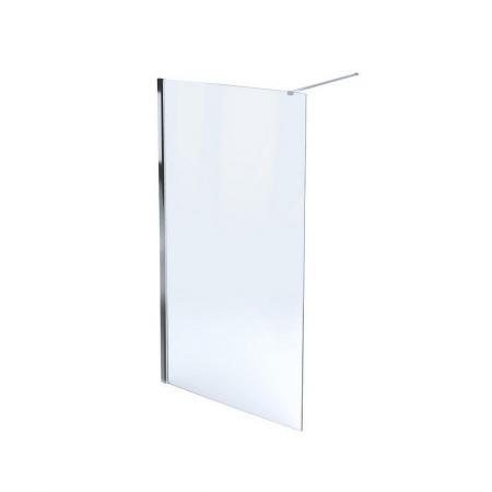 Massi Fix Walk-in Kabina prysznicowa prostokątna 90x195 cm z powłoką Easy Clean, profile chrom szkło przezroczyste MSKP-FA1021-90