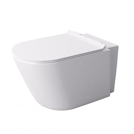 Massi Loca Mini Toaleta WC podwieszana 36,5x49 cm z deską sedesową wolnoopadającą, biała MSM-0002SLIM