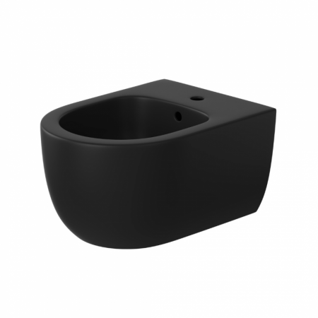 Massi Molis Black Bidet podwieszany 49x36 cm kompaktowy czarny półmat MSB-0013-MB