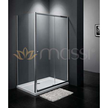 Massi Movo Kabina prysznicowa prostokątna 100x80x185 cm z powłoką Easy Clean, profile chrom szkło przezroczyste MSKP-A405