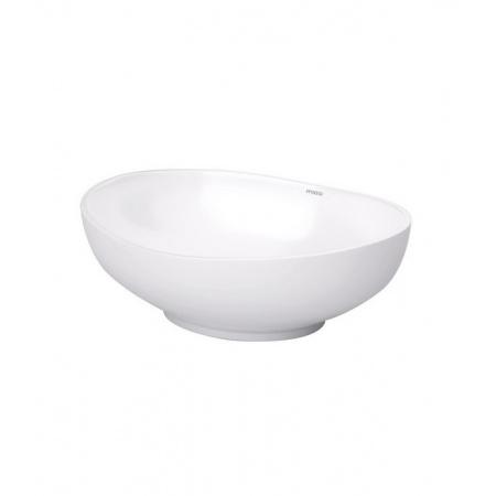 Massi Oval Umywalka nablatowa 41x33x14 cm, biała MSU-5060B