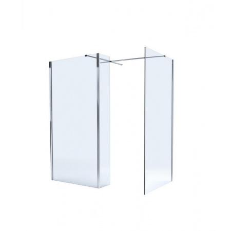 Massi System Pro Walk-in Ścianka prysznicowa 170x90x195 cm z powłoką Easy Clean, profile chrom szkło przezroczyste MSKP-A1021-90