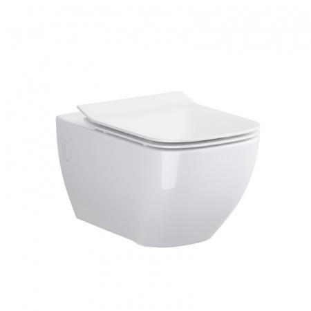 Opoczno Metropolitan Toaleta WC podwieszana 55,5x36 cm CleanOn bez kołnierza, biała OK581-002-BOX