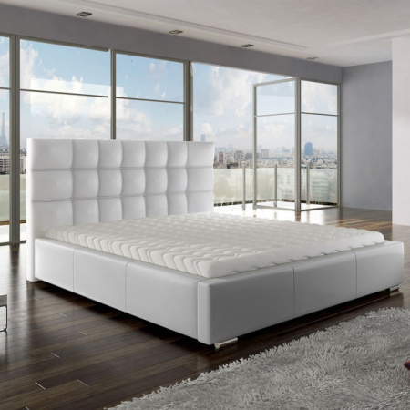 New Composition Factory Anette Kompletne łóżko z pojemnikiem i materacem 160x200 cm, białe 10268