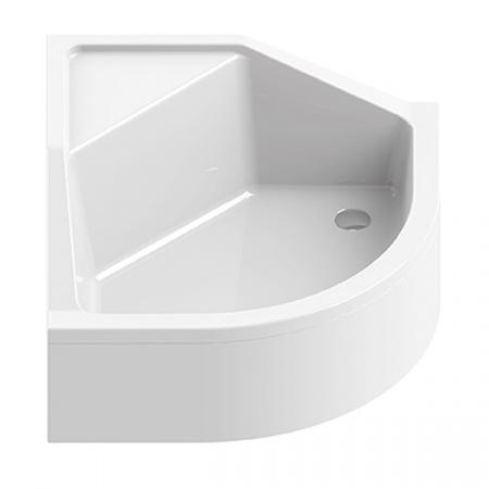 New Trendy Angus Brodzik półokrągły 90x90x29 cm, biały B-0362