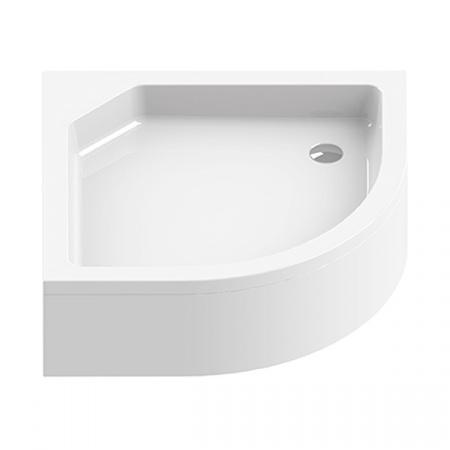 New Trendy Artus Brodzik półokrągły 80x80x21 cm, biały B-0359