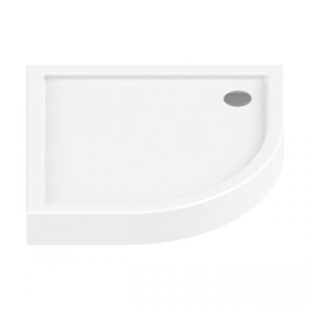 New Trendy Columbus Brodzik półokrągły 90x90x14 cm, biały B-0103