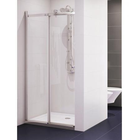 New Trendy Diora Drzwi prysznicowe wnękowe przesuwne 120 cm, profile chrom szkło przezroczyste EXK-1031