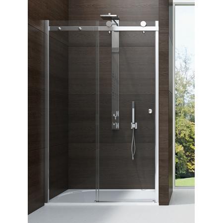 New Trendy Diora Drzwi wnękowe 140x190 cm z powłoką Active Shield, profile chrom szkło przezroczyste EXK-1051