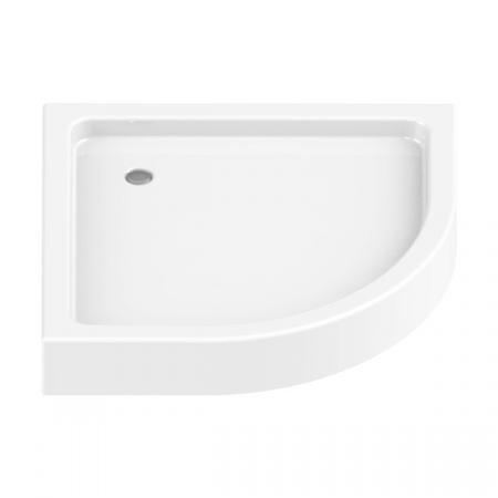 New Trendy Domio Brodzik półokrągły 80x80x16 cm, biały B-0349