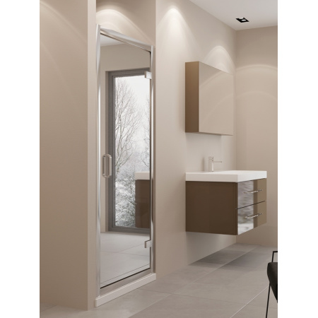 New Trendy Lumina Drzwi wnękowe 90x195 cm z powłoką Active Shield, profile chrom szkło lustrzane EXK-1115