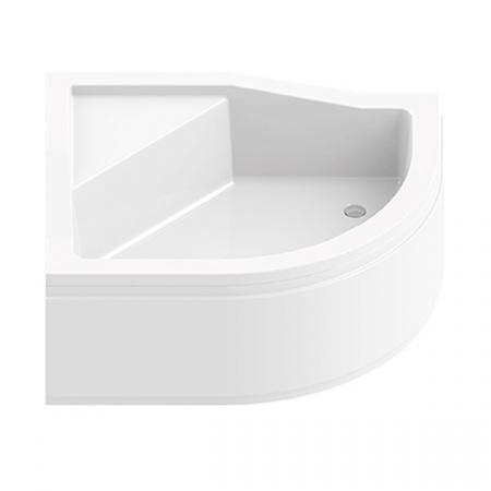 New Trendy Maxima Brodzik półokrągły 100x80x38,5 cm, biały B-0367