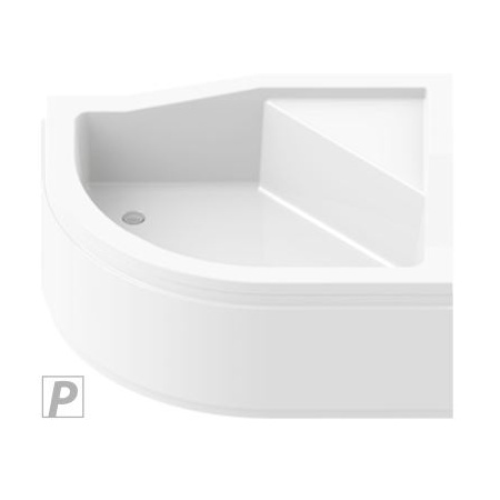 New Trendy Maxima Brodzik półokrągły 100x80x38,5 cm, biały B-0368